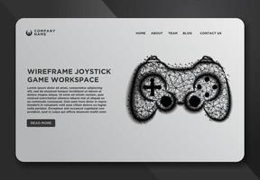 Web page template of a joystick vector