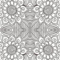 Artistic decorative mandala floral pattern vector