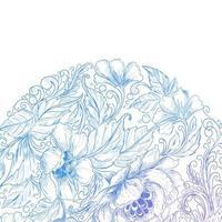 Artistic floral blue purple gradient design vector