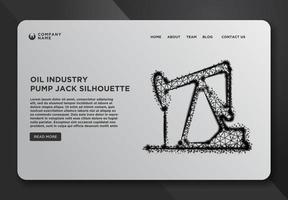 Web page template of Oil Pump Jack vector