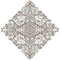 Hand drawn decorative diamond floral mandala vector