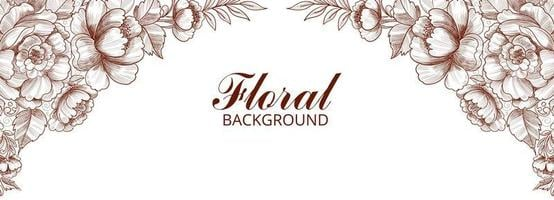 Abstract decorative floral frame banner vector