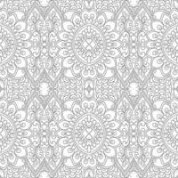 Modern ethnic decorative floral seamless pattern