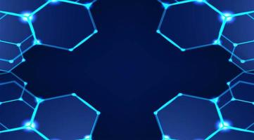 Modern hexagonal background vector