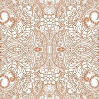 Orange ethnic decorative floral pattern design