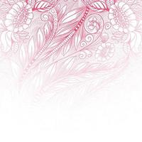 Ethnic decorative pink floral gradient pattern