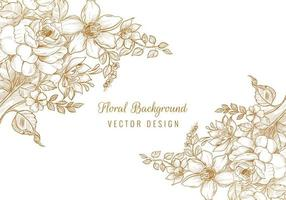 Beautiful decorative wedding floral background vector