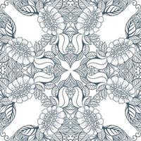 Hand drawn decorative floral mandala pattern vector