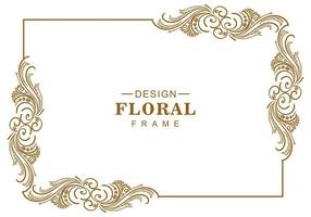 Decorative artistic floral frame vector