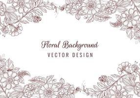 Beautiful hand drawn wedding floral borders vector