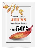 Autumn social media post templates vector