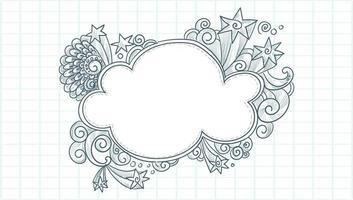 Hand drawn sketch star burst
