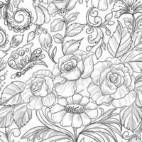 Modern decorative floral card vector
