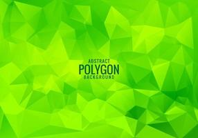Modern green low poly triangles background