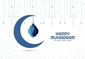 Abstract simple Islamic happy muharram card background