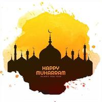Happy muharram holiday card background