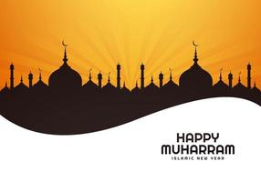 Beautiful islamic new year holiday festival card