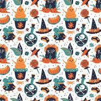 Happy Halloween seamless pattern background.
