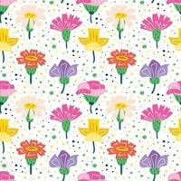 Little wildflowers seamless pattern vector