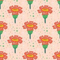 Wildflowers seamless pattern