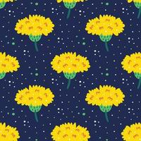 flores silvestres de patrones sin fisuras