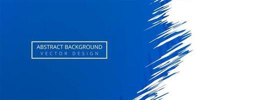 Fondo de banner grunge azul moderno vector