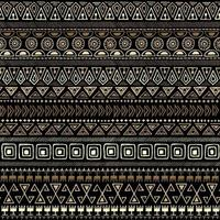 Tribal Gold Seamless Pattern vector