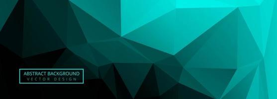 Abstract green polygon banner background vector