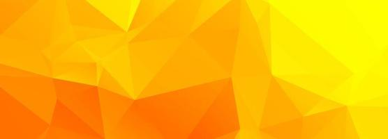 Abstract orange and yellow polygon banner