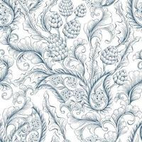 Seamless, floral and ornamental pattern vector