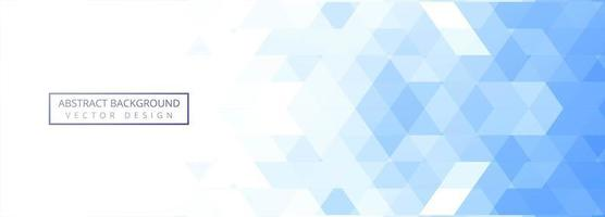 Abstract blue and white tile geometric banner  vector