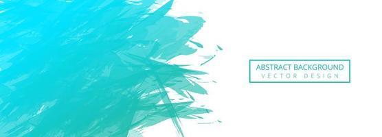 Fondo de banner de pincel acuarela turquesa abstracta vector