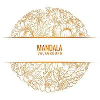 Beautiful decorative mandala background vecto vector