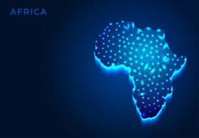 Africa Continent in Blue Silhouette vector