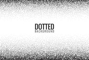 White background with black dotted background vector