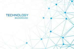 Technology background with blue polygon links vector