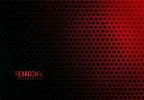 Abstract hexagonal tech red background vector