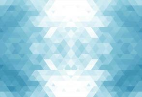 Abstract blue geometric tile shapes background vector