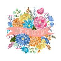 tarjeta de felicitación feliz del día de madres vector