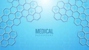 Abstract medical and healthcare hexagonal background vector