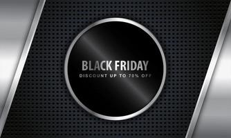 Black Friday Metallic Design with Discount Offer Frame