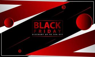 Black Friday Red, White and Black Geometric Design