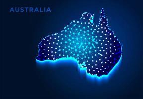 Australia Map in Blue Silhouette vector