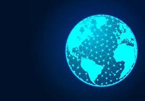 World Map on dark background vector