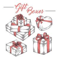 Gift boxes sketch collection