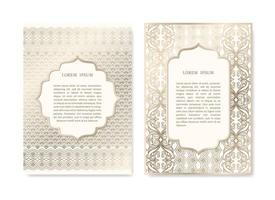 Set of Ornamental, Gold Cards vector