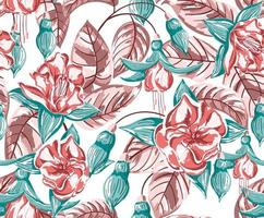 Tropical, Floral, Seamless Pattern vector