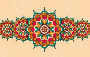 Background with Colorful Mandala Design
