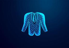 Tuxedo, Businessman cloth. Shine blue background. vector