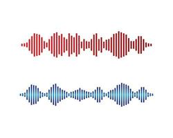 Sound wave logo images vector